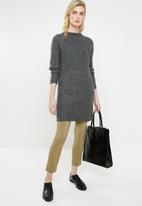 MANGO - Turtleneck longer length knit - grey
