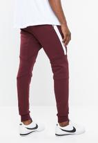 Nike - M nsw tech fleece jogger - burgundy & white