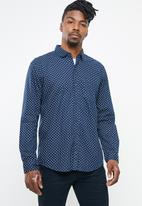 STYLE REPUBLIC - Night sky dotted long sleeve shirt - navy & white