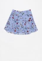 Rebel Republic - A-line button through skirt - multi