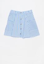 Rebel Republic - A-line button through skirt  - multi