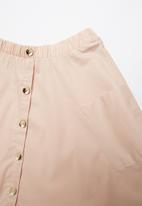 Rebel Republic - A-line button through skirt - pink