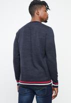 Jack & Jones - Silas knit crew knit - navy