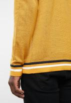 Jack & Jones - Silas knit crew knit - yellow