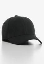 POP CANDY - Plain peak cap - black