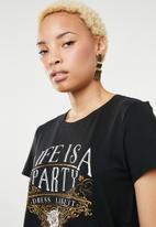 Vero Moda - Fancy short sleeve top - black