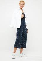 Cotton On - Sian shirred jumpsuit - navy