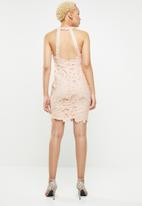 Missguided - Halter neck mini dress - pink