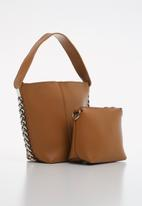 Superbalist - Chain detail tote bag - tan
