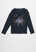 name it - Victor long sleeve top - navy