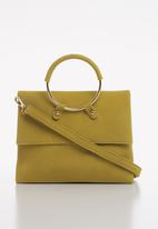 Superbalist - Jagger ring detail clutch - yellow