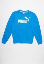 PUMA - Ess logo crew sweat - blue