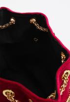 Superbalist - Adina velvet bucket bag - burgundy