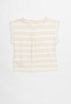 Roxy - From the jump b tee - white & coral