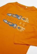 name it - Victor long sleeve top - orange