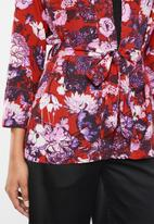 Vero Moda - Marlene short kimono - red