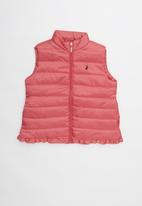 POLO - Sleeveless puffer jacket - pink