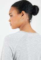 MANGO - Organic cotton long sleeve T-shirt - grey