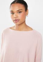 Revenge - Balloon sleeve knit - pink