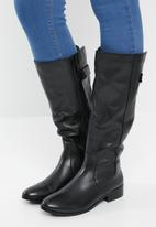 ALDO - Leather knee length boot - black