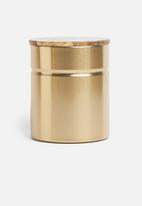 Typhoon - Modern kitchen canister - gold