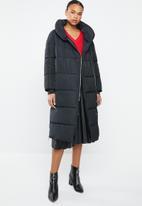 MANGO - Quilted water repellent puffer coat - black