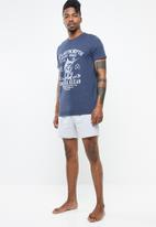 STYLE REPUBLIC - Marlin anchor  pj set - blue