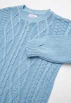 POP CANDY - Long sleeve rib knit - blue