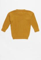 POP CANDY - Long sleeve rib knit - yellow