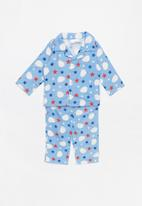POP CANDY - Full flannel pyjamas - blue