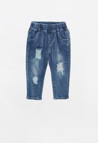 POP CANDY - Distressed denim jeans - mid blue