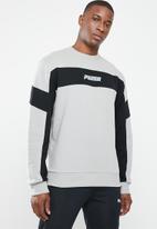 PUMA - Rebel crew fleece - grey & black