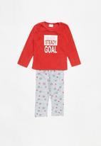 POP CANDY - Fleece and flannel pyjamas - grey