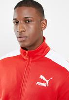 PUMA - Archive t7 track jacket - red & white