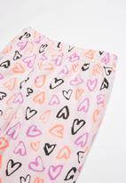 POP CANDY - Flannel hearts pyjama set - multi