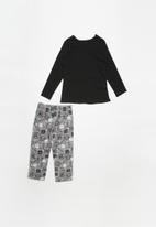 POP CANDY - Flannel pyjama set - black