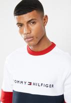 Tommy Hilfiger - Relaxed stripe sweatshirt - white & navy