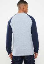 Brave Soul - Kabuto crew neck raglan sweater - navy & blue