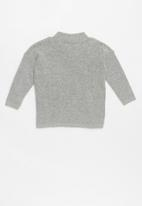 POP CANDY - Kids pom pom knit - grey