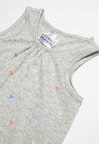 POP CANDY - Printed sleeveless vest - grey
