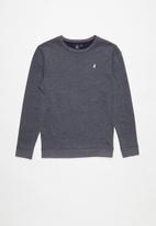 POLO - Teens blake long sleeve sweater - navy