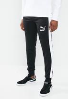 PUMA - Classics iconic t7 track pants - black & white
