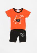 POP CANDY - Printed set - orange