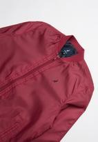 POLO - Teens gregory long sleeve baseball jacket - burgundy
