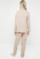 Superbalist - Sleep shirt & pants set - beige