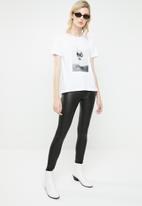 MANGO - Logo T-shirt - white