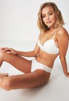 Cotton On - Party pants seamless g-string - cream