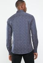 Only & Sons - Alves all over print shirt - blue