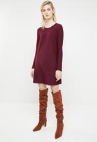 MANGO - Vera mini dress - burgundy