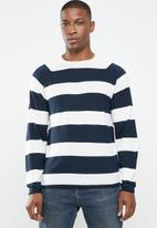 Only & Sons - Andreas stripe knit pullover - blue & white